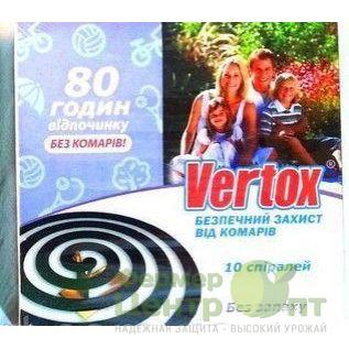 VERTOX спирали от комаров, 10 шт. (Без запаха)