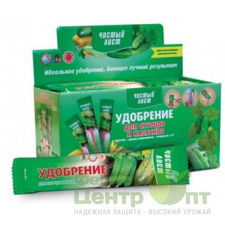 Удобрение для огурцов и кабачков 100 гр. Чистый Лист