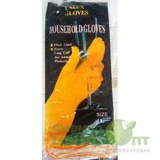 Перчатки хозяйственные латексные Household Gloves, размер L