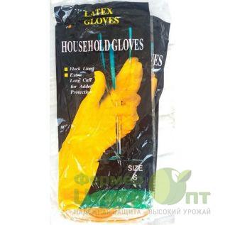 Перчатки хозяйственные латексные Household Gloves, размер S