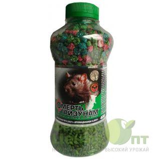 Смерть грызунам 2 в 1 400 г зеленое зерно + микс гранула (Агромаг)