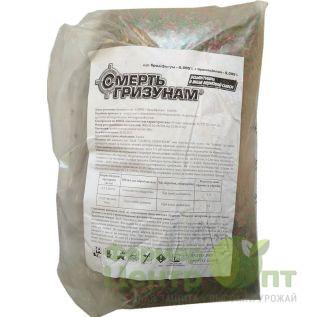 Смерть грызунам зерно (зеленое+красное) 10 кг – родентицид (Агромакси)