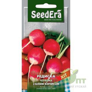 Семена Редис Красный с белым кончиком, раннеспелый, 2 г (SeedEra)